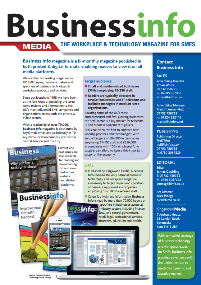 Business Info Magazine Media Pack Page 1