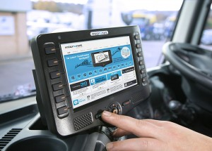 As well as providing satellite navigation and vehicle tracking, the computers enable engineers to communicate with back office