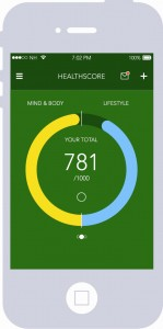 the Nuffield Healthscore fitness and wellbeing app guides users towards healthier lifestyle choices