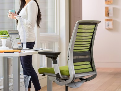 Steelcase has used pre-consumer recycled polyamide instead of virgin polyamide for a number of parts