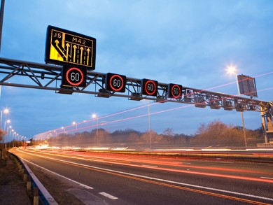 Regional control rooms oversee the motorways, but much of the traffic management is carried out automatically