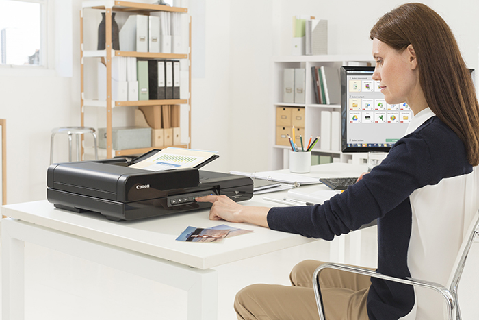 Despite its compact size and quiet operation, the DR-C240 has scan speeds of 45 pages per minute – or 90 images per minute when scanning two-sided documents