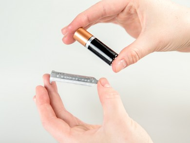 The Batteriser is a clever device that extends the life of a standard disposable battery by up to 800%