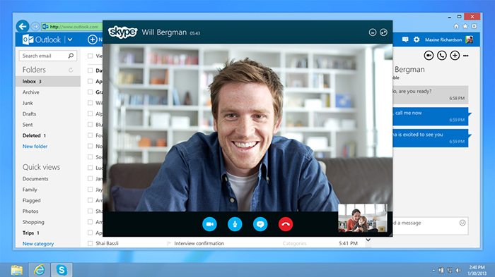 Skype for Business will enable a case worker for a Symphony patient to see instantly whether a particular consultant is available to talk and contact them directly