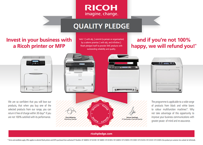 Don't like the printer? Send it back and ricoh will give you a refund!
