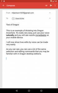 Bringing the power of Dragon desktop speech recognition to mobile devices for the first time, this professional-grade solution lets you dictate documents on a smartphone or tablet and then edit them using voice commands.