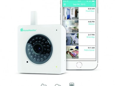 The HomeMonitor HDS also features On Demand Recording of clips at the touch of a button