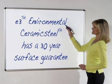 Dry-erase whiteboard paint can transform your office walls into a whiteboard surface.