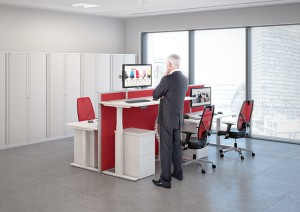 Autonomy Pro from Century Office lets users move between sitting and standing positions at the touch of a button.