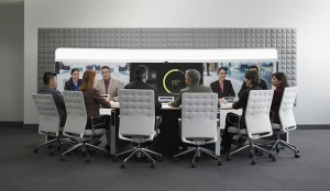 The Cisco TelePresence IX5000 is an immersive system featuring three 70-inch high-defiition LCD screens that gets you as close to 'being there' as possible through an immersive audio and video experience.