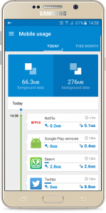 Over 30% of mobile data is used by apps running in the background, according to research by Opera Max.