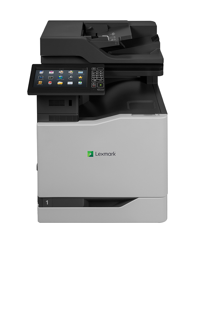 Another time-saving feature of Lexmark CS720/725/820 series printers and Lexmark CX725/820/825/860 series MFPs is a new unified Scan Center app
