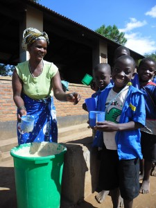 By arranging meals in school, the charity aims to attract hungry children to the classroom