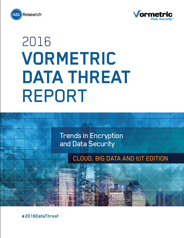 The 2016 Vormetric Data Threat Report (DTR) issued in conjunction with analyst firm 451 Research shows that storage of critical information within cloud environments continues to rise