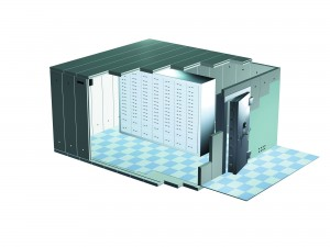 A cost-effective method of adding a high security strong-room to a new or existing building