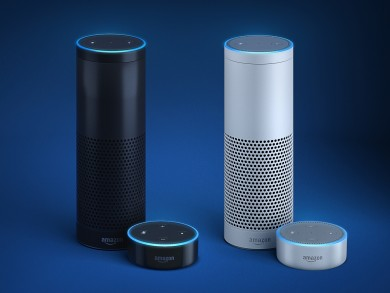 Amazon Echo and Echo Dot are voice-controlled speakers designed entirely around your voice