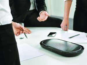 The Jabra SPEAK 810 can turn any location into a productive conference room