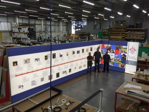 The bespoke timeline was supplied by Yorkshire-based Leach, with the design, production and installation of the 11 x 2.5 metre atmospheric lightbox all carried out by the company's in-house team