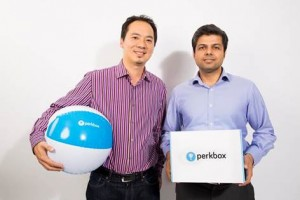 Perkbox co-founders Saurav Chopra and Chieu Cao