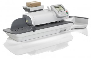 A franking machine uses scales for precise postage charging and keeps costs down with Royal Mail Mailmark