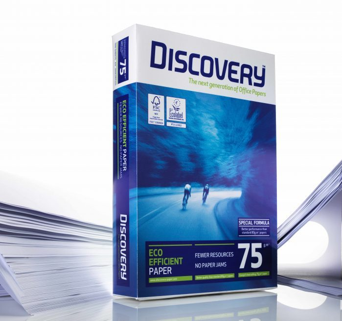 Discovery Paper is an eco-efficient paper that is made using less wood, which guarantees a top performance with less resources