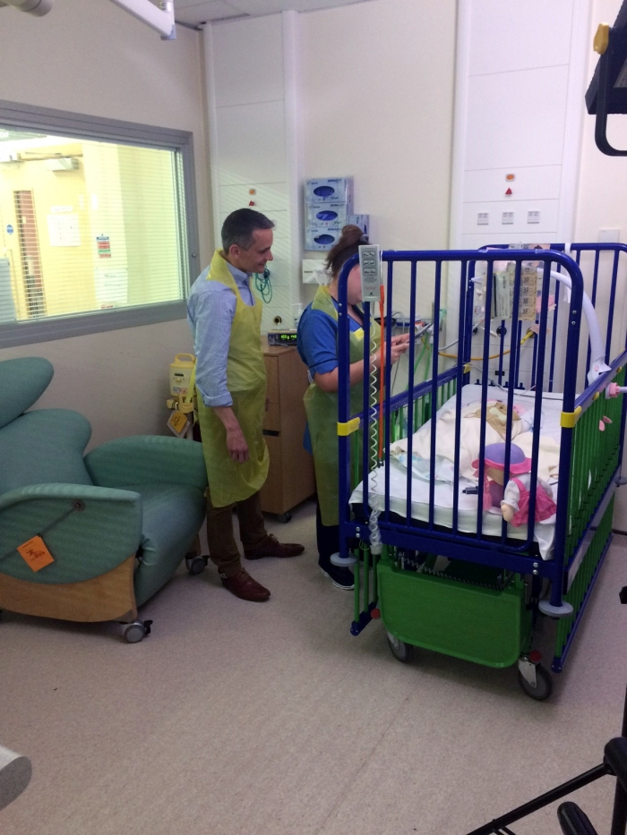 Secure video messaging technology at the Royal Hospital for Children in Glasgow