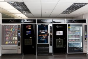 Modern vending machines attention-grabbing digital displays