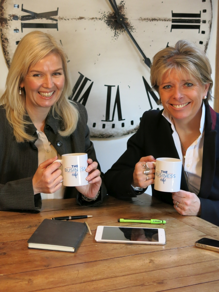Penny Power OBE (right|) with her business partner Gail Thomas