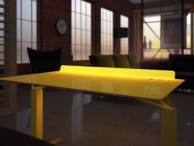 An eye catching addition is the LightBar which runs along the back of the desk