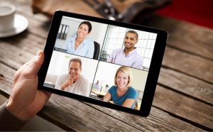 Zoom iPad Video Conferencing