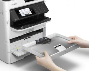 High ink yield bags mean Epson inkjet printers can run for longer without having to be changed